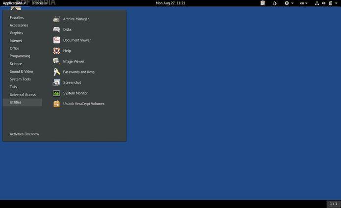 Tails 3.9 lançado com suporte a TrueCrypt e VeraCrypt, e mais