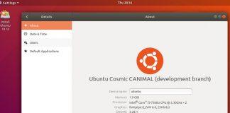 Ubuntu 18.10 LTS entrou em freeze ou congelamento de recursos