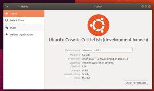Cosmic Cuttlefish ou Ubuntu 18.10 já está usando o kernel 4.17