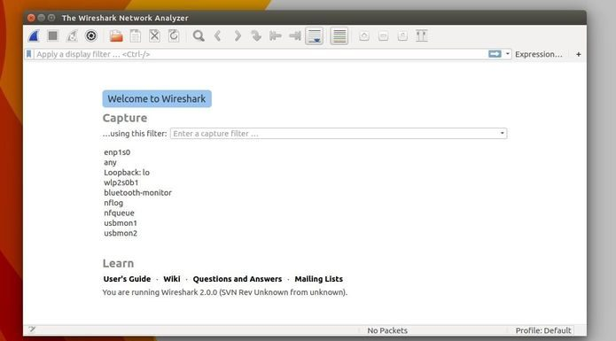 Como instalar o analisador Wireshark no Linux via Flatpak