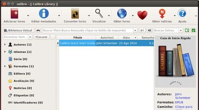 Como instalar o gerenciador de eBooks Calibre no Linux via Flatpak