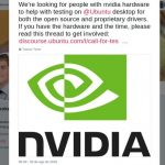 Canonical pediu ajuda para testar o suporte a Nvidia no Ubuntu 18.10 e 18.04