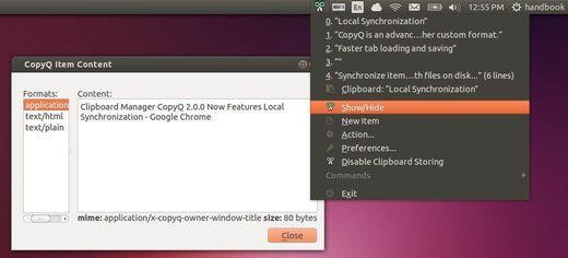 CopyQ 3.6.0 lançado com melhorias e correções de bugs