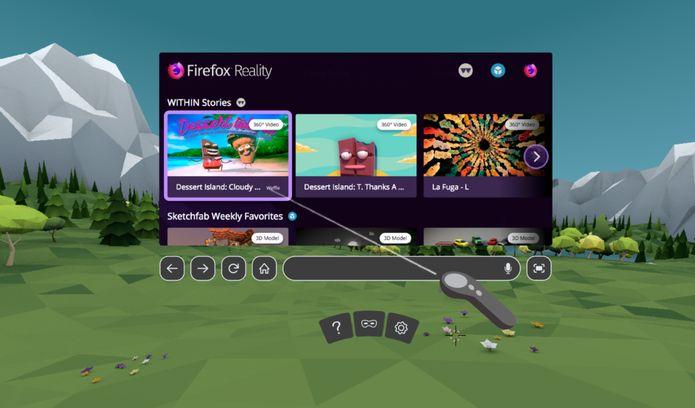 Navegador Firefox Reality lançado para Viveport, Oculus e Daydream