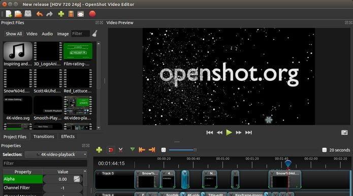 OpenShot 2.4.3 lançado - Confira as novidades e veja como instalar
