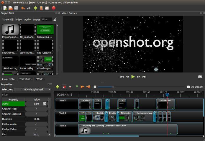 OpenShot 2.4.3 lançado – Confira as novidades e veja como instalar