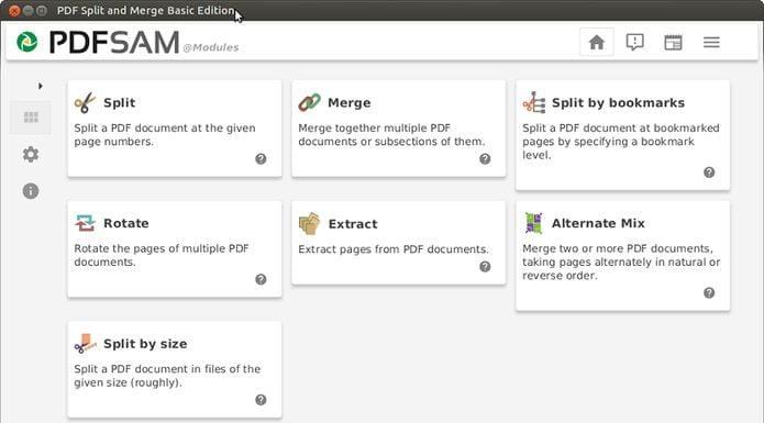 Como instalar o Pdfsam no Linux Ubuntu, Fedora, openSUSE e derivados