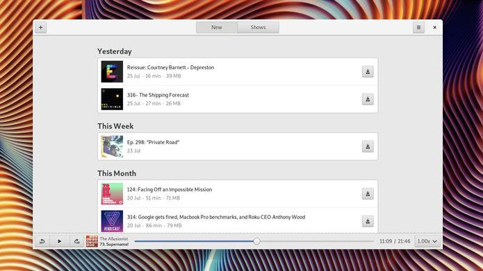 Podcasts 0.4.5 lançado com melhorias e correções de bugs