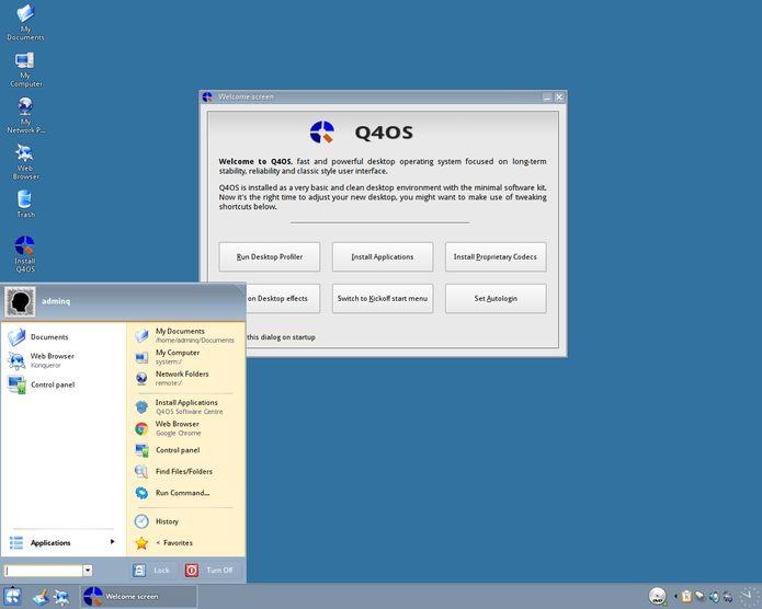 Q4OS 2.6 lançado com Trinity Desktop 14.0.5 ou KDE Plasma 5.8.6
