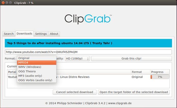 Como instalar o ClipGrab no Linux via arquivo appimage
