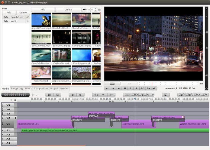 Como instalar o editor de vídeo Flowblade no Linux via AppImage