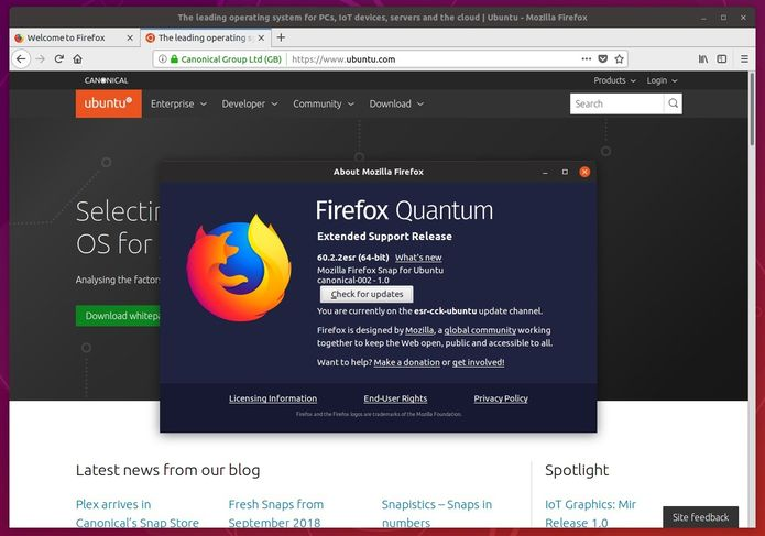 firefox esr no linux via snap - Como instalar o Firefox Nightly no Ubuntu e derivados