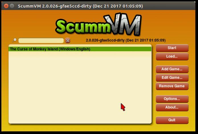 Como instalar o lançador de jogos ScummVM no Linux via Snap