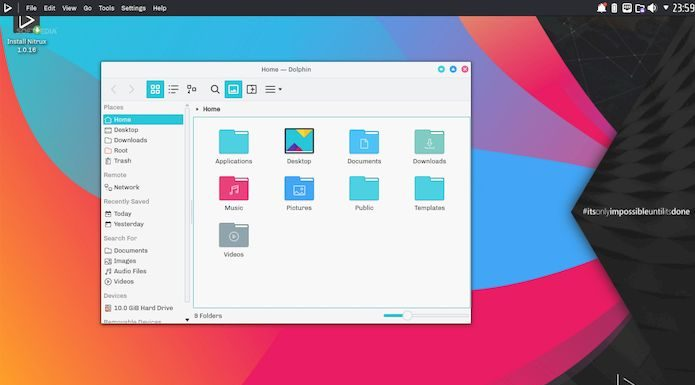 Nitrux - um Linux bonito e fácil de usar para os fãs do ambiente KDE Plasma
