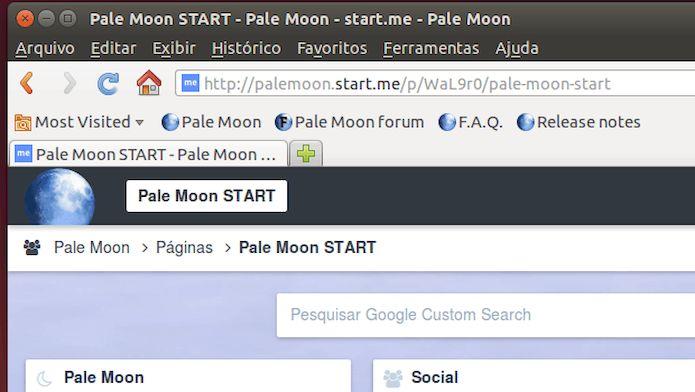 Como instalar o navegador Pale Moon no Ubuntu 18.04 e derivados