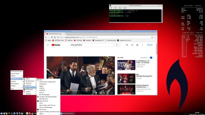 RaspEX Build 181010 com o Helium Desktop da BunsenLabs lançado