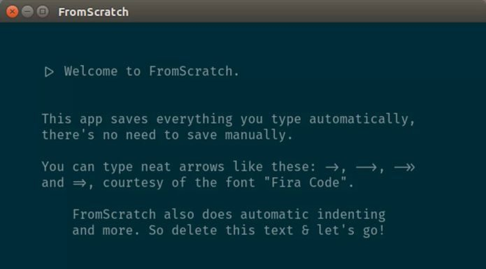 Como instalar o app de anotações FromScratch no Linux via Snap