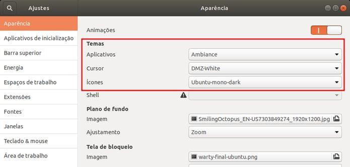 Como restaurar o antigo tema da área de trabalho no Ubuntu 18.10