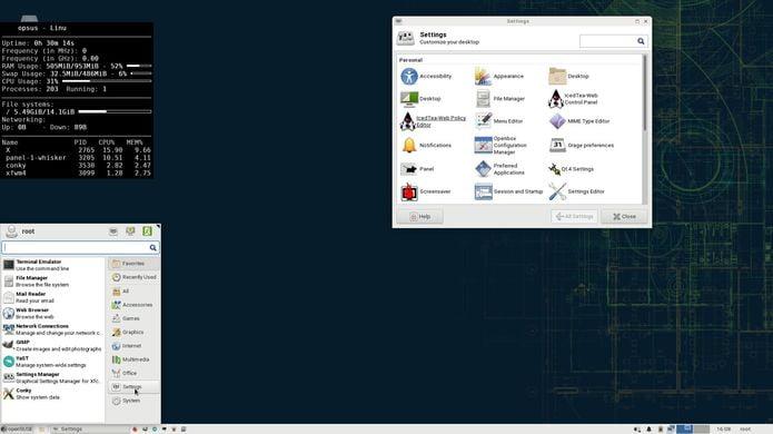 EXTON OpSuS Rpi, um openSUSE Tumbleweed com Xfce Desktop