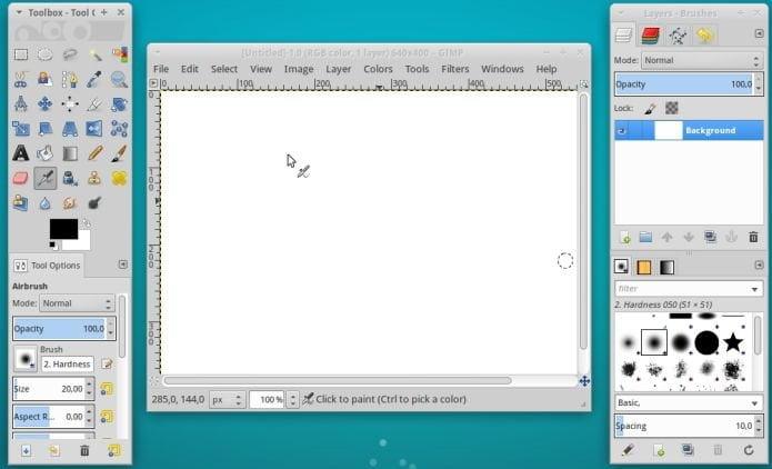 GIMP com Quitelnsane