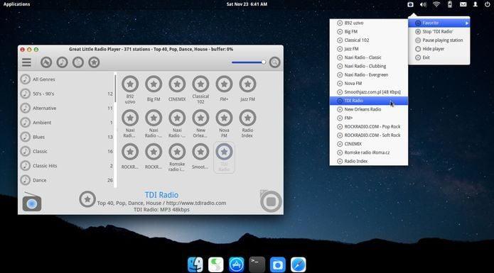 Great Little Radio Player no Linux Ubuntu, Fedora, openSUSE e derivados
