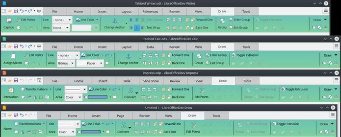 LibreOffice 6.2 entrou em beta com novo design chamado Notebookbar