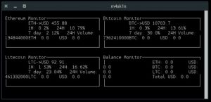 Como instalar o monitor de moedas Cryptowatch no Linux via Snap