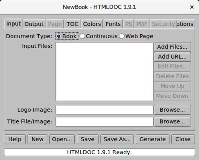 Como instalar o software de conversão HTMLDOC no Linux via Snap