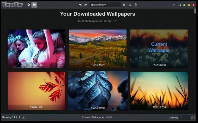 Como instalar o gerenciador de wallpaper Wonderwall no Linux via Snap