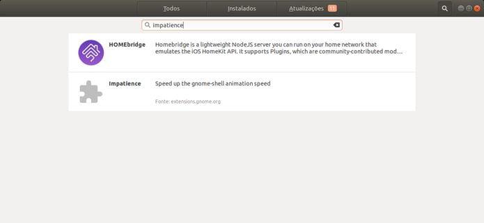 alterar a velocidade das animações no Ubuntu