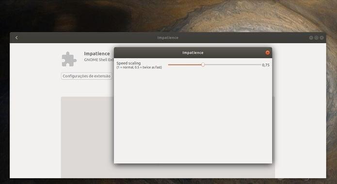 Como alterar a velocidade das animações no Ubuntu 20.04 e superior