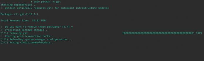 Usando o gerenciador de Pacotes do Arch Linux