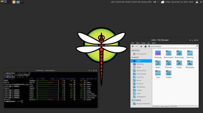 DragonFlyBSD 5.4.1 lançado - Confira as novidades e baixe