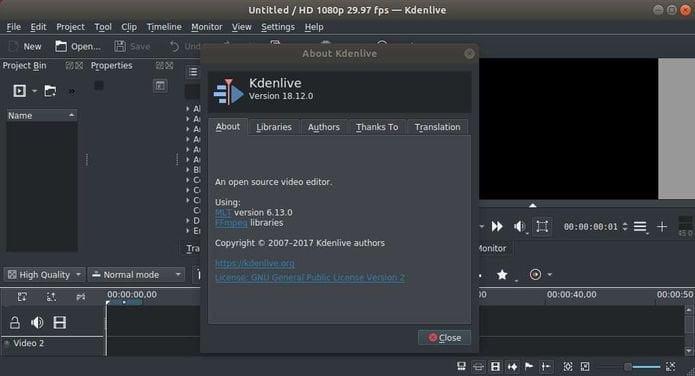 Kdenlive Video Editor 18.12 Lançado com importantes correções