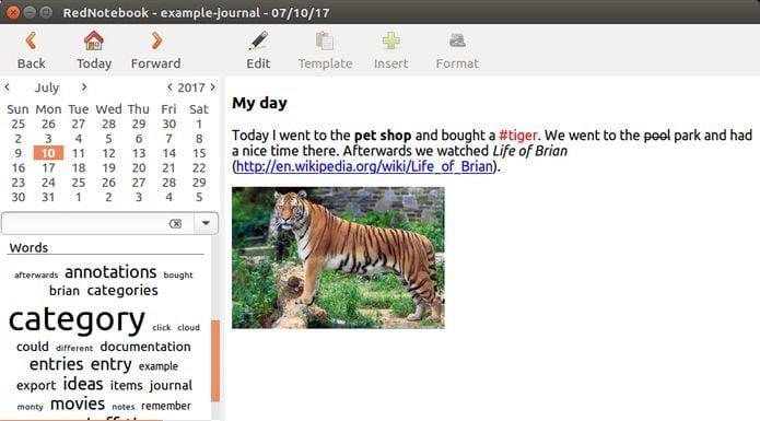 Como instalar o app de diário RedNotebook no Linux via Flatpak