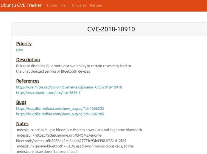 Lançada correção para o GNOME Bluetooth do Ubuntu 18.04