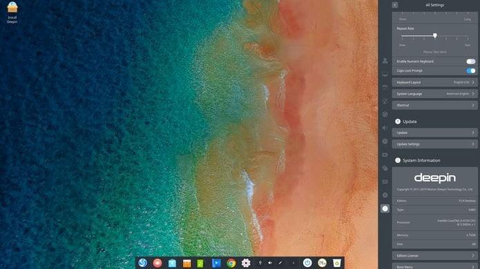 Deepin 15.9 lançado com suporte a gestos e várias correções