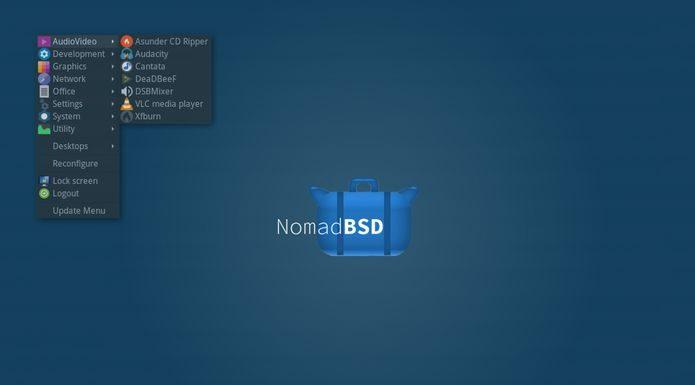 NomadBSD 1.2 RC1 já está disponível para download