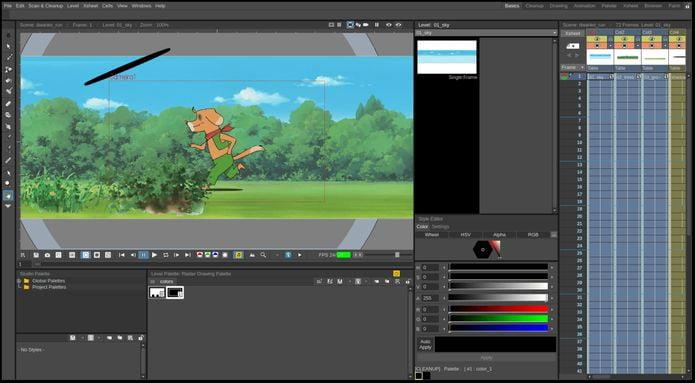 Como instalar o app de animação 2D OpenToonz no Linux via Snap