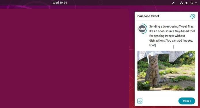 Publique os tweets a partir da bandeja do sistema com o Tweet Tray