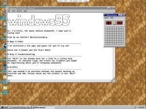 Aplicativo Windows 95 versão 2 lançado com várias melhorias
