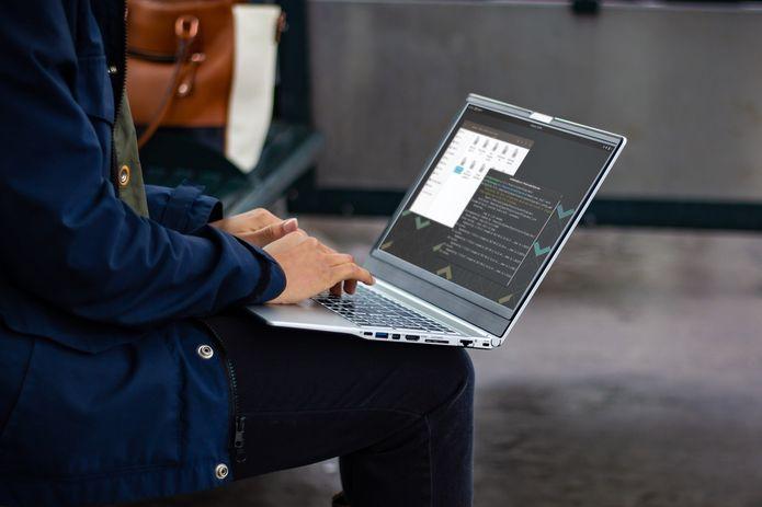 notebook com Linux 1