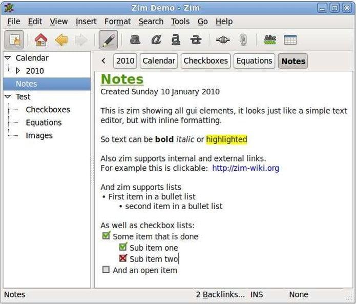Como instalar o desktop wiki Zim no Linux via Flatpak