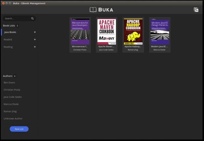 Como instalar o gerenciador de eBooks Buka no Linux via Snap