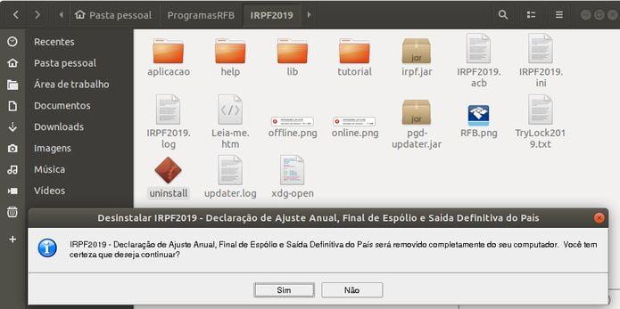 Como instalar o programa IRPF 2019 no Linux via arquivo BIN