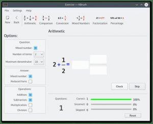 Como instalar o calculador de frações KBruch no Linux via Snap