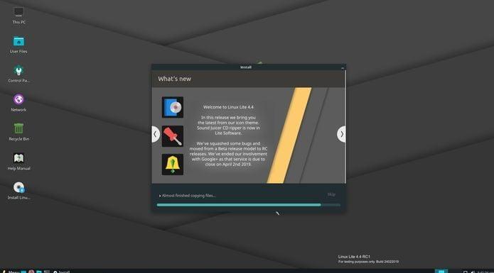Linux Lite 4.4 RC1 já está disponível para download