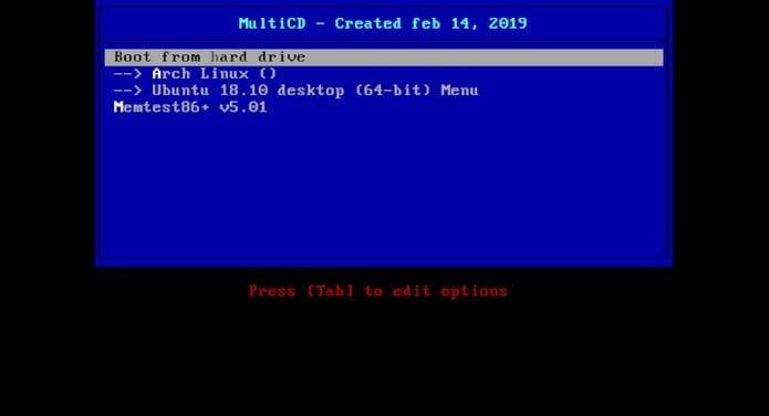 MultiCD permite criar uma imagem ISO com suas distribuições favoritas