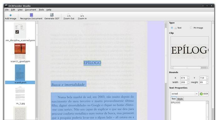 Como instalar a suíte OCRFeeder no Linux via Flatpak