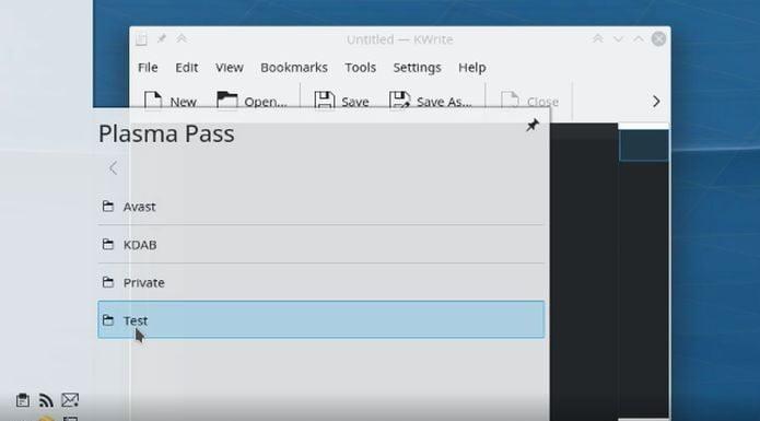O gerenciador de senha pass será integrado no KDE Plasma